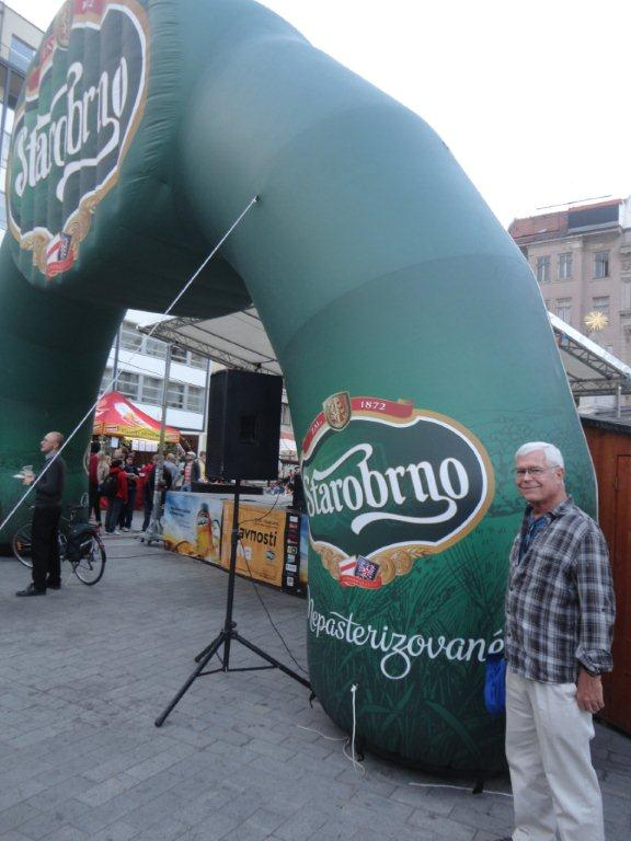 Starobrno brewery logo at the Beer Days at the Freedom Sq.
