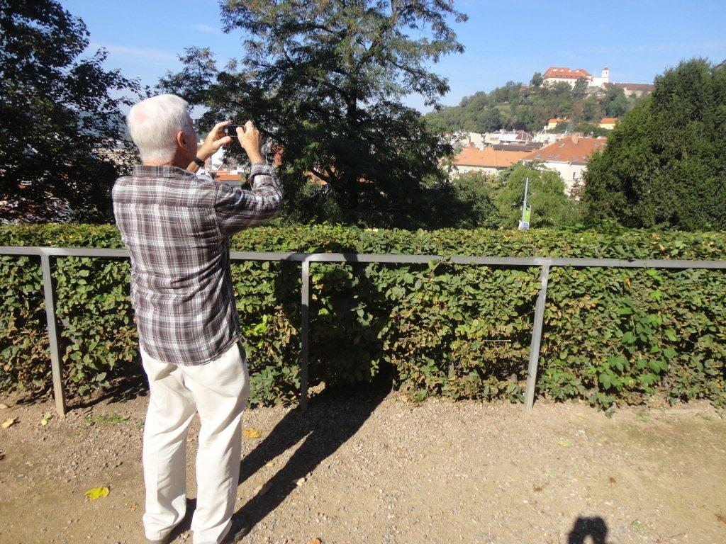 John Reilich shooting the Spilberk Castle